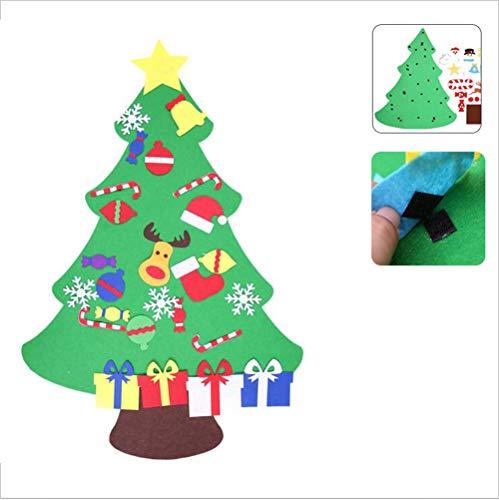 YCRD DIY Weihnachtsbaum, Handgefertigte Puzzle Geschenk Für Kinder, Filz Tuch Dreidimensionale Wandbehang Dekoration, Klett,C