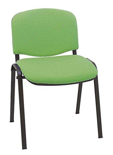 Silla Express ISO-NVC Silla Confidente Tapizada, Acero, Verde, 79x53x55 cm