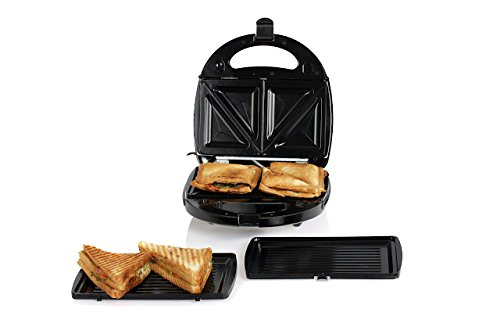 Nova NSM 2410 750-Watt 2-in-1 Sandwich Maker (Black/Silver)