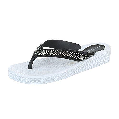 Ital-Design - Scarpe peep toe Donna bianco nero