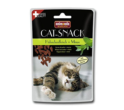 Animonda Cat Snack Hühnchenfleisch Plus Minze, 6er Pack (6 x 45 g)