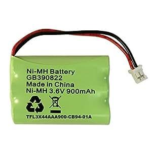 Batteria di ricambio per Motorola MBP36 baby monitor MBP36PU batteria ricaricabile NiMH 3,6 V 900 mAh GB390822 TFL 3 x 44aaa900 - CB 94-01 Amp