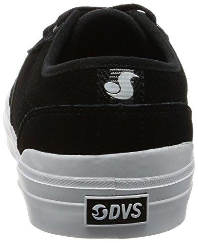 DVS Cedar Black/White Suede Schwarz