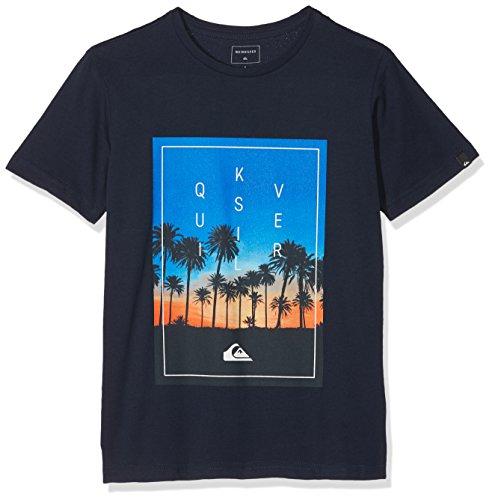 Quiksilver Jungen SALINASTARTSYTH B TEES BYJ0 Screen Tee, Navy Blazer - Solid, M/12 (Youth Beach T-shirt)