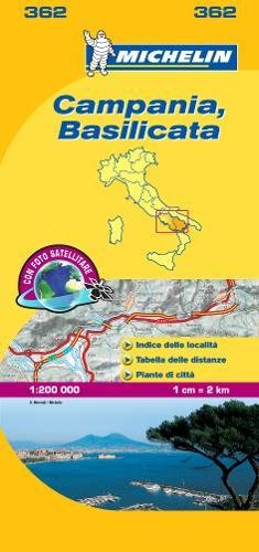 Mapa Local Campania, Basilicata (Mapas Local Michelin)