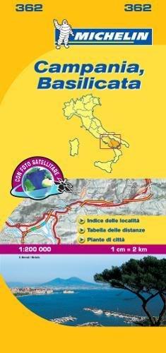 Mapa Local Campania, Basilicata (Mapas Local Michelin) por MICHELIN