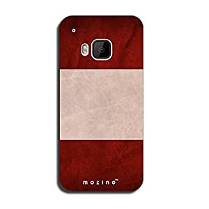 Mozine Maroon Drive printed mobile back cover for HTC one m9