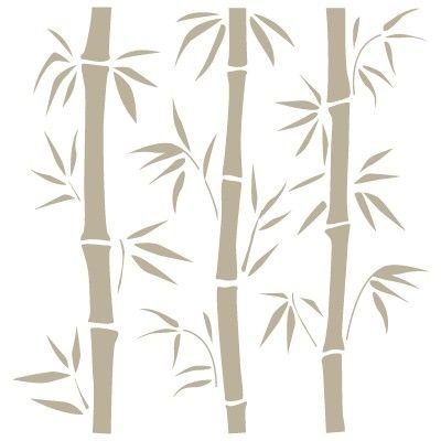 Stencil Mini Deko Hintergrund 056 Bambus Stencil Grösse: 12x12 cm Design Grösse: 8,8x9 cm