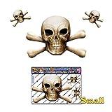 Bone Skull N X Os effrayant Halloween Pirate Blague vinyle autocollant de voiture pour ordinateur portable, caravanes, camions, bateaux ST00037BN-1 - JAS autocollants