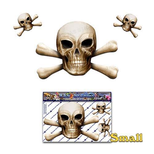 Knochen Schädel N X Knochen Scary Halloween Pirate Witz Vinyl Auto Aufkleber Aufkleber Pack für Laptop, Wohnwagen, LKW, Boote ST00037BN-1 - JAS Aufkleber