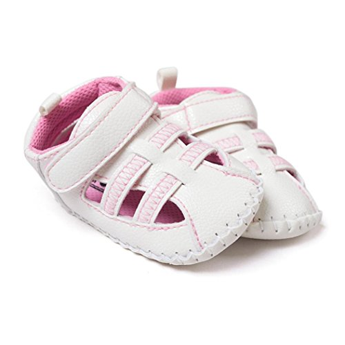 Hunpta Babyschuhe Mädchen Jungen Lauflernschuhe Baby Kleinkind weiche Sohle Leder Schuhe Baby Boy Girl Schuhe (13, Rosa) Rosa