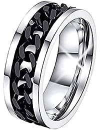 Inception Pro Infinite Ctnn - Anillo Fedina de Color con Motivo Trenzado Unisex-Adult Negro