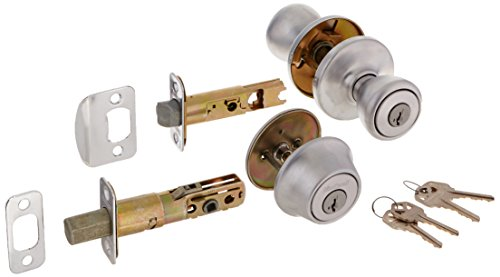Kwikset 690T 26D SMT RCAL RCS 690 Tylo Keyed Entry Knob And Single Cylinder Deadbolt Combo Pack Featuring Smart Key, Satin Chrome by Kwikset