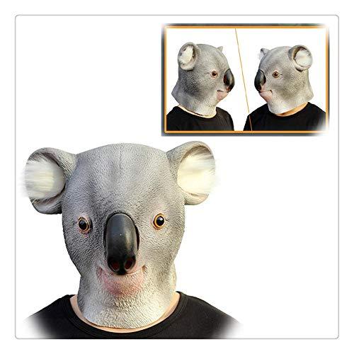 Z-one 1 Deluxe Latex australische Koala-Maske für den ganzen Kopf, Tiermaske, Halloween-Kostüme, Premier League Zubehör