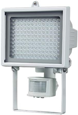Brennenstuhl LED-Leuchte L130 PIR IP44 mit Infrarot-Bewegungsmelder Outdoor weiß, 1173390