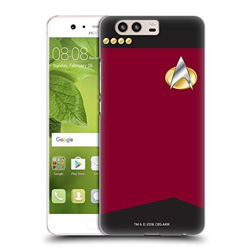 (Head Case Designs Offizielle Star Trek Captain Uniformen und Plaketten TNG Ruckseite Hülle für Huawei P10)
