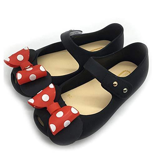 Mädchen Minnie Mouse Schuhe Tie Dot Bow Princess Sandalen Jelly Schuhe Weihnachten Geburtstagsgeschenk für Kleinkind/Little Kid