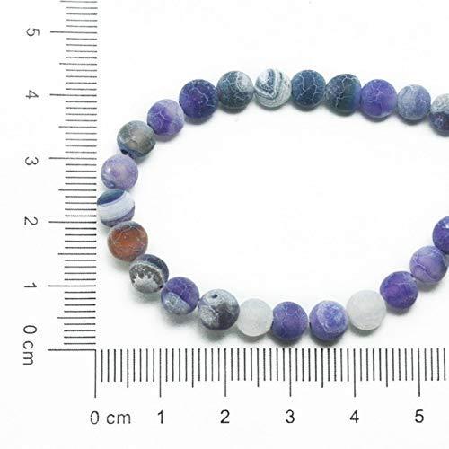 Necclecs nuovo arrivo 6mm 63 pz 38 cm/filo tinto naturale gemma rotonda pietra sogno vene pendente per il braccialetto collana gioielli fai da te, viola