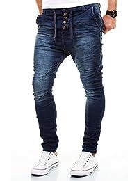 Jogg Jeans Herren Hose Blau Beige Grün Denim Cargo Harem Slim Fit Chino Jogger Sweathose W29-W38 / L32-L34