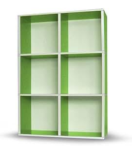 Way Basics Tribeca Shelf Green (Grün) +++Möbel aus 99% Recyclingpapier+++ bei cubicat