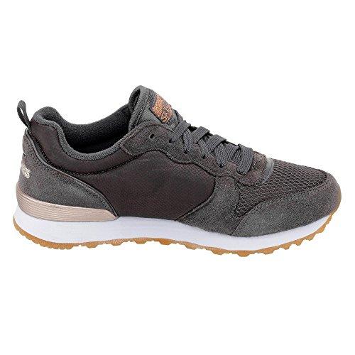 Scarpe sportive per donna Skechers Originals in tessuto e camoscio colore grigio Grau