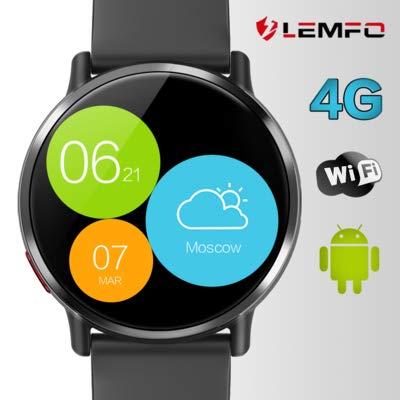 LEMFO LEM X montre connectée - Ip67 Montre Connectée 4G Smart Watch phone Imperméable de Android 7.1 1 GB + 16 GB avec Ecran de 2.03 Pouces 8MP Caméra Bluetooth GPS WIFI 900mAh Batterie