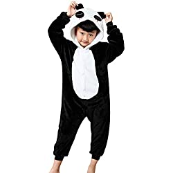 JT-Amigo Disfraz Pijamas para Unisex Niños,Panda, 9-11 años (Talla de la Fabricante: 125)