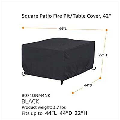 Amazonbasics Square Patio Fire Pittable Cover - 106 M Black from AmazonBasics