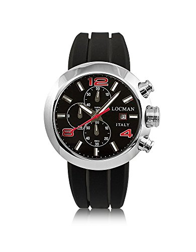 LOCMAN Herren 042000Bknrd0sikrk Schwarz Stahl Uhr