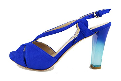 THE SELLER sandali donna blu camoscio AG565 (37,5 EU)