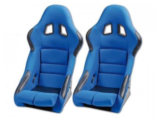 Sportsitz Set Edition 2 Stoff blau