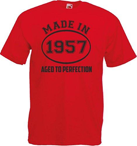 Novelty Gifts Herren T-Shirt, Logo grau asche Rot