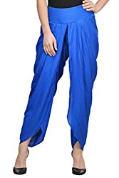 Royal Blue Solid Rayon Dhoti Salwar