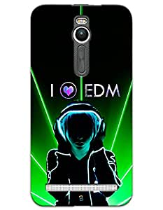 Asus Zenfone 2 Cases & Covers - I Love EDM Case by myPhoneMate - Designer Printed Hard Matte Case - Protects from Scratch and Bumps & Drops.