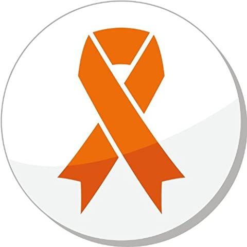 Orange Ribbon Leukemia Hunger Humane Treatment of Animals De Haute Qualite Pare-Chocs Automobiles Autocollant 12 x 12 cm