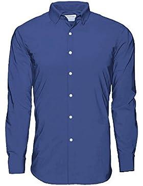 Noldemann - Camisa de vestir de alto rendimiento Azul Navy