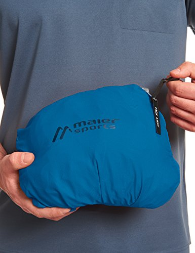 MAIER SPORTS Funktionsjacke Metor M aus 100% PES in 22 Größen, Packaway-Jacke/ Outdoor-Jacke/ Herren Jacke, wasserdicht und atmungsaktiv imperial blue
