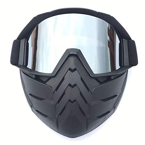 Motorrad Brille Selbsttönend Schutzbrille Silber ()