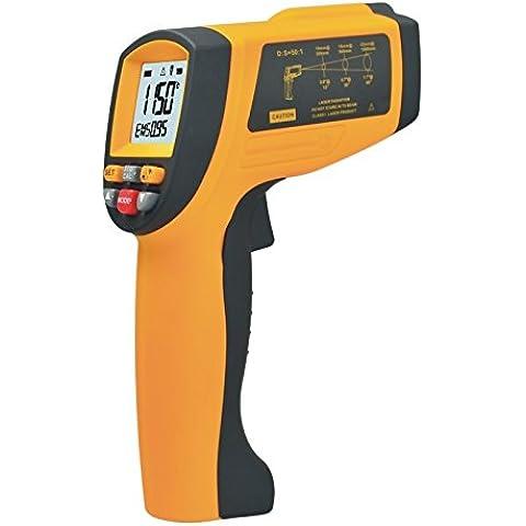 Industrial termómetro infrarrojo, YH-THINKING sin contacto de la temperatura del arma del punto del laser Láser IR Termómetro con Rango de temperatura de interfaz USB -30 ~ 1650 ? (-22 ~ 3002 ?)