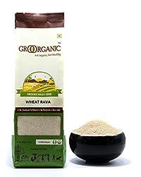 GroOrganic Wheat Rava/Suji - (500 g)