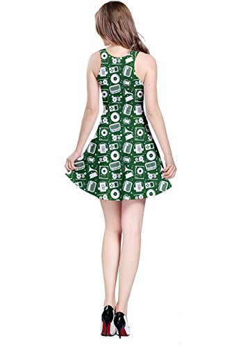 CowCow - Robe - Femme Black Treble vert foncé