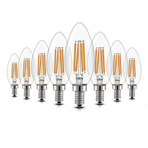 8er Pack LED Lampe E14 Glühbirne 4W dimmbare lampe, iGOKU filament E14 led Glühfaden Warmweiß leuchte led Birne, 360°Abstrahlwinkel LED birne 40W Entspricht Edison Lampe, 450 Lumen 2700K -