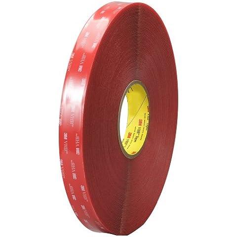 3 M TapeCase 4910 6,98 cm x (2,75 36yd trasparente multiuso, Double face, in materiale acrilico, con 40 mil, spessore: 1,02 mm, 7 x 36 yd. in rotolo