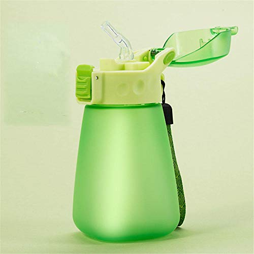 Tragbarer Kunststoff -Strohbecher 320ML mit Strohbecher Studentenwasser -Becher kühler Sommerbecher@1