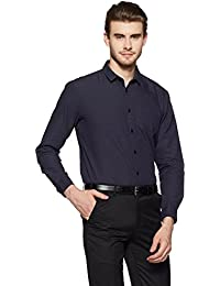 Indigo Nation Men's Solid Slim Fit Cotton Formal Shirt