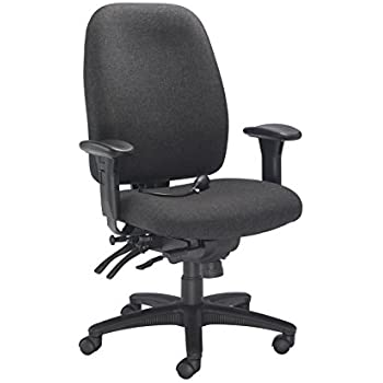 Amazing Office Hippo 24 Hour High Back Office Chair With Arms And Adjustable Lumbar  Support, Fabric, Pre Assembled   Charcoal