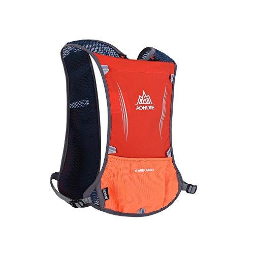 Lixada 5L Sport Wasserflasche Rucksack Tasche mit Reflective Weste, Running Radfahren Kleidung Rot