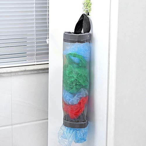 Gaddrt Home Grocery Storage Bag Holder Wall Mount Storage dispenser plastica cucina organizer Gray
