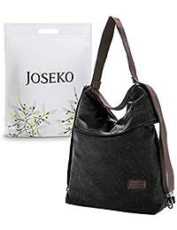 JOSEKO Zaino Casual per Donna, Borse a Spalla Multifunzione in Tela Borsa a Tracolla Daypack Grandi per Lavoro Shopping Viaggio