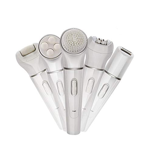 QUARK 5 in 1 Facial Cleansing Brush Exfoliator Clean Skin SPA Cleaner Electric Cleansing System Kit Face Wash and Face Brush - Haut-system-kit